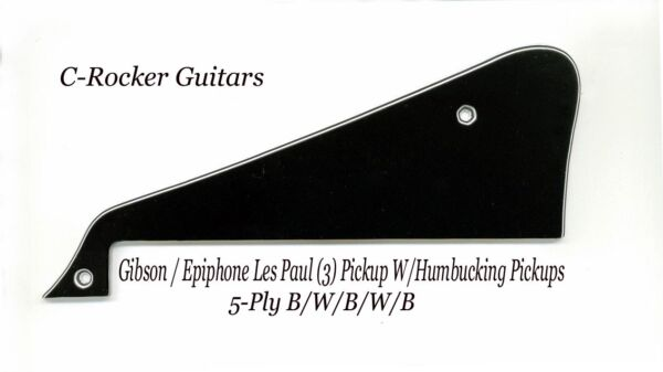 Les Paul LP Custom Black 5-Ply Pickguard WBracket made for Gibson Project NEW