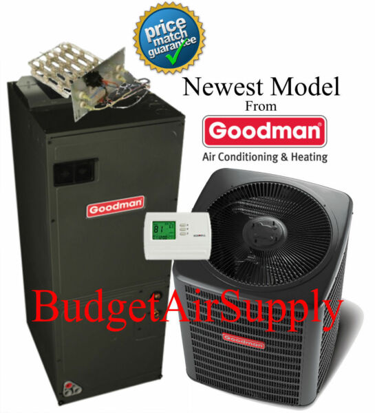3.5(3 12)Ton 15 seer Goodman Heat Pump VARIABLE GSZ140421+AVPTC42D14+Tstat+Heat