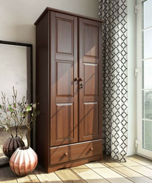 100% Solid Wood Flexible Wardrobe Armoire Closet by Palace Imports 3 Colors