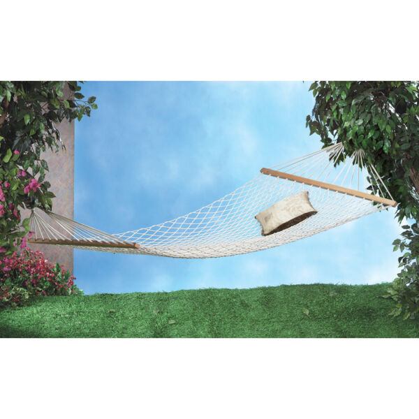 extra wide XL Big heavy guy WHITE Cotton mesh net 2 person Hammock swing 440 lbs $48.00