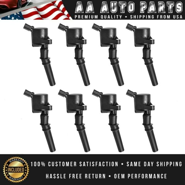 Ignition Coils 8 Pack For Ford 4.6L 5.4L F150 F250 F550 Lincoln V8 DG508  FD503