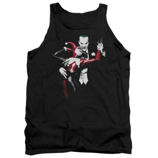 Harley Quinn And The Joker Alex Ross DC Comics Licensed Adult Tank Top S-2XL