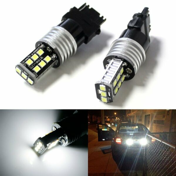 White High Power 3156 3157 LED Backup Reverse Light Bulbs Powerd By 2835-SMD LED