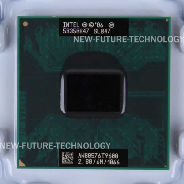 Intel Core 2 Duo Mobile T9600 2.8 GHz 1066 MHz 478 pin CPU 35W US Free Shipping $15.50