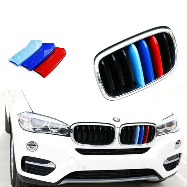 M-Sport 3-Color Grille Insert Trims For BMW F15 X5 F16 X6 Center Kidney Grill