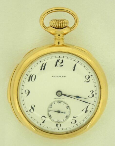Antique Patek Philippe Tiffany I8K YG 5 Min. Repeater Gents Pocket Watch wBox