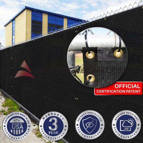 Customize Black 4#x27; 5#x27; 6#x27; 8#x27; H Fence Privacy Wind Screen Mesh Fabric Shade
