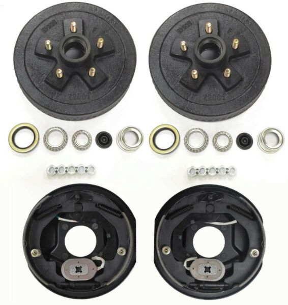 Trailer 5 on 4.5 Hub Drum Kits with 10quot;X2 1 4quot; Electric brakes for 3500 lbs axle $164.66