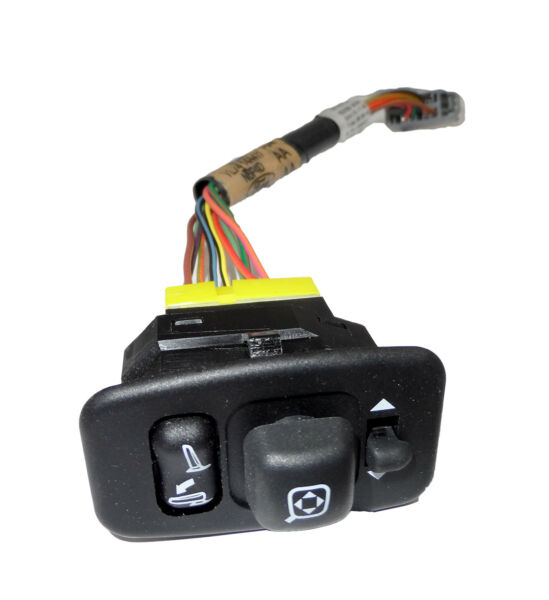 New OEM Power Fold Driver Side Mirror Switch w/ Wire Harness Ford YL7Z-17B676-AA
