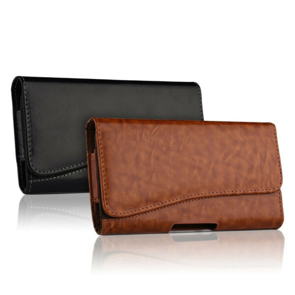 HORIZONTAL LEATHER CASE FOR IPHONE 8  8 PLUS CARRYING POUCH BELT CLIP HOLSTER