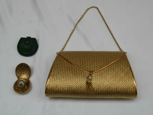 MAGNIFICENT FRENCH 1900 18K GOLD DIAMOND LADY'S PURSE & POCKET WATCH