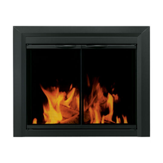 Pleasant Hearth Glass Fireplace Door Carlisle Black Medium Mesh Screen CL-3001