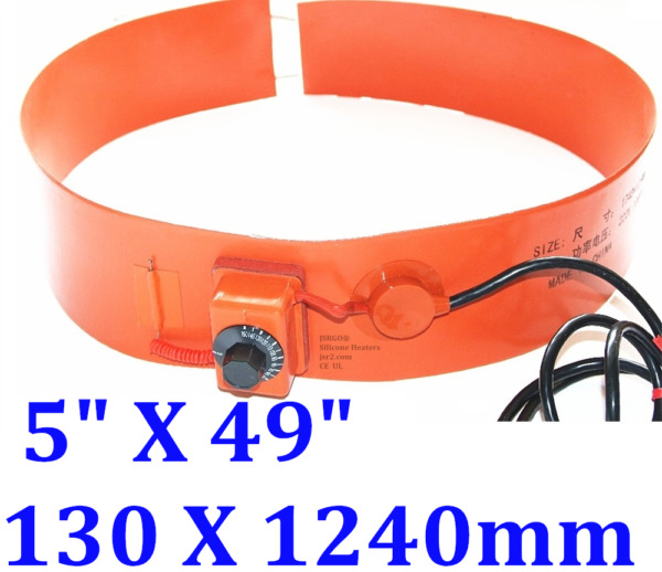 1240 mm x 130 mm 110 V 800 W Tank Drum Band Heater with Control Barrel 55G