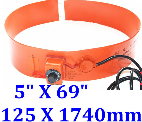 1740mm X 250mm 220 V 2000 W Silicone Drum Band Fuel Diesel Tank Belt WVO Heater