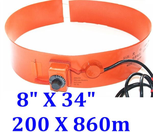 200mm X 860mm 600 W 120 V Drum Heater WVO Bio-diesel Tank Barrel 5Gal