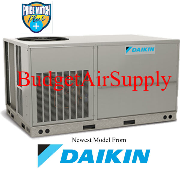 DAIKIN Commercial 3 ton 13 seer(208230)3 phase 410a HEAT PUMP Package Unit