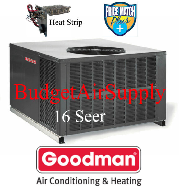 3.5 Ton 16 seer Goodman HEAT PUMP MULTI POSITION Package Unit GPH1642M41+Heat+