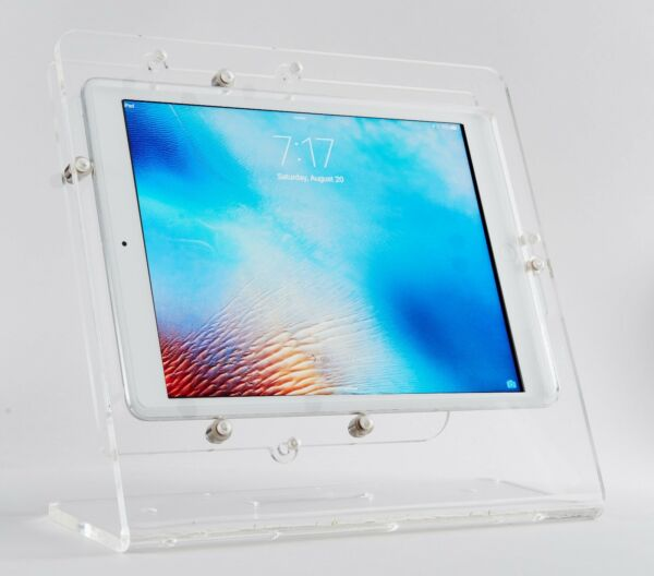 Tablet Acrylic Anti-Theft Security EZ Desktop Stand for Store Display Kiosk POS
