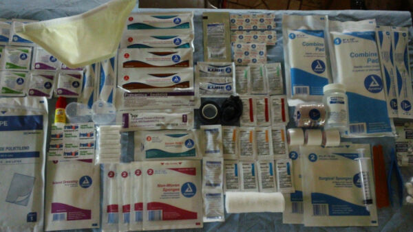 FIRST AID REFILL KIT SUPPLIES EMERGENCY EMT SURVIVAL BUG OUT MEDICAL BAG PREPPER