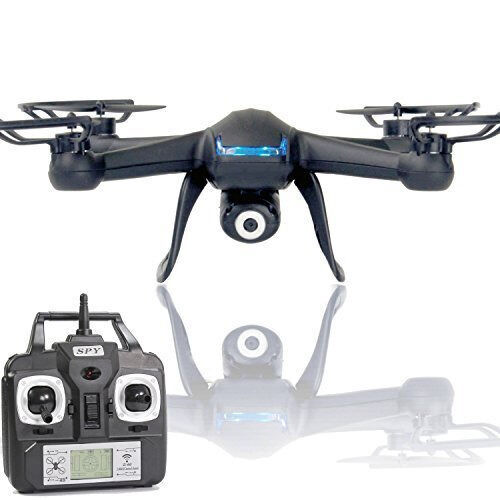 Drone X007 Black Quad Copter with 2MP 720p HD Spy Camera 2nd Generation