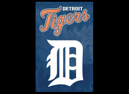 DETROIT TIGERS Official MLB Team Dynamic Applique Premium WALL BANNER