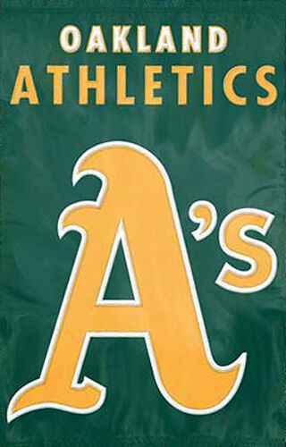OAKLAND A'S Official MLB Team Dynamic Applique Premium WALL BANNER