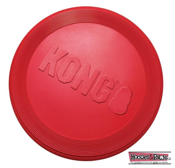 Dog Toy KONG Red Flyer Flexible Durable Frisbee Disc LARGE Chew Fetch Toys