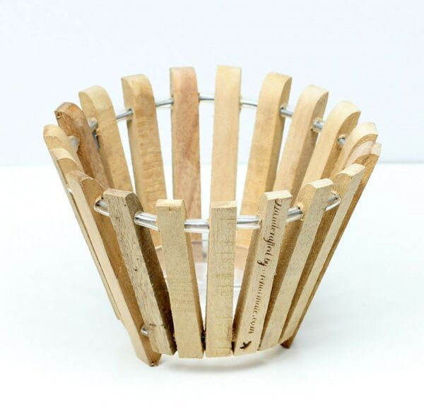 Hanging wood orchid basket Round 6quot; $6.95