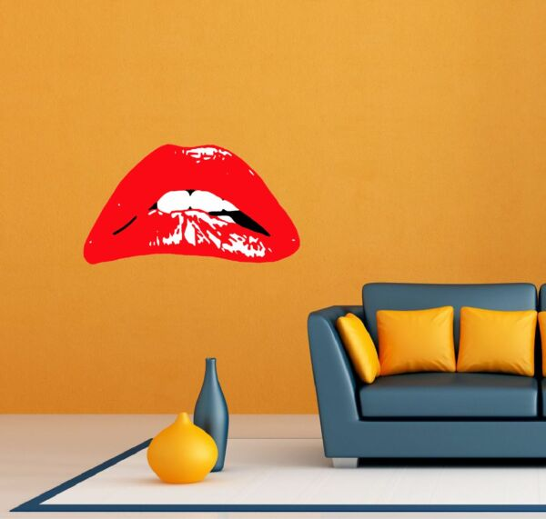 The Rocky Horror Show Musical Lips Room Wall Garage Decor Sticker Decal 25quot;X16quot; $19.99