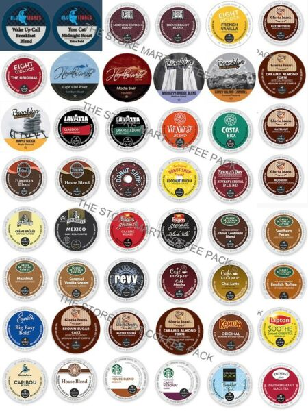 K-Cup Custom Variety PACKS 16-64 Coffee And Tea K CUPS Sampler For Keurig