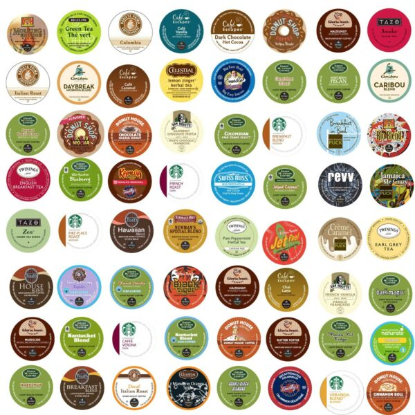 Keurig K-Cup CUSTOM VARIETY Pack. Over 150 Flavors To Choose From Coffee Tea