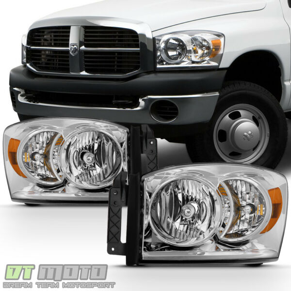2006 2008 Dodge Ram 1500 07 09 2500 3500 Headlights Replacement Lamps LeftRight