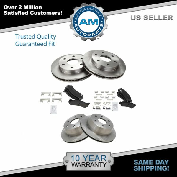 Brake Pad amp; Rotor Kit Metallic Front amp; Rear for Cadillac Chevy GMC $153.15