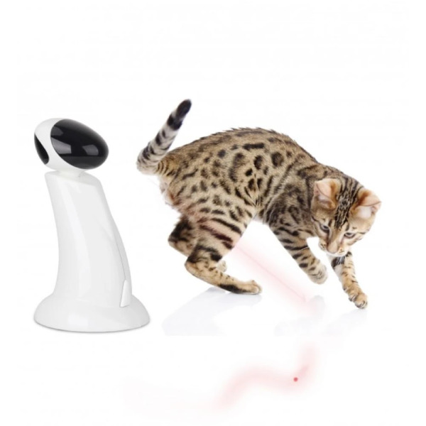 All for Paws Cat Toy Interactive Laser Beam Robot Pointer Toys Pet Kitty Fun