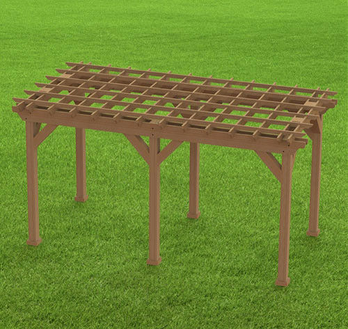 Garden Pergola 002 Woodworking DIY Plans Easy to Build Paper Building Plans
