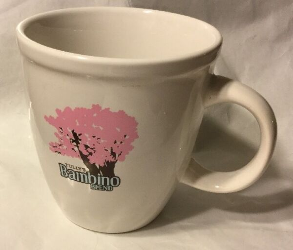 TULLY'S COFFEE 16 OZ 'SINCE 1992' BAMBINO BLEND MUG PINK BLOSSOM TREE CUP