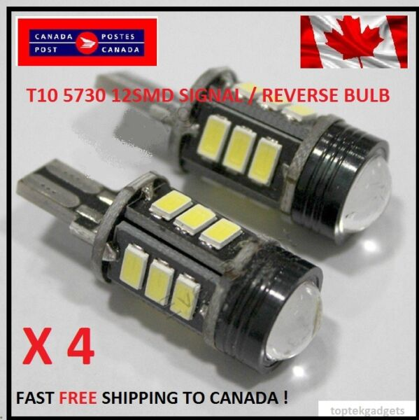 4XT15 12SMD Xenon WHITE SIGNAL Reverse 5730 Canbus No Error LED Car Light CREE
