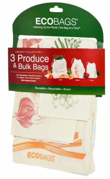 NEW ECO-BAGS PRODUCTS MARKET COLLECTION PRODUCE & BULK BAGS NATURAL COTTON DAILY