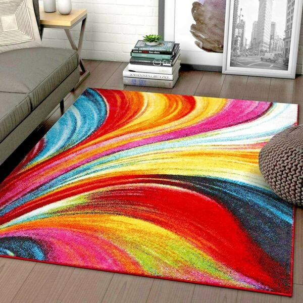 RUGS AREA RUGS CARPET AREA RUG FLOOR LARGE MODERN COLORFUL ABSTRACT RUGS  ~NEW~
