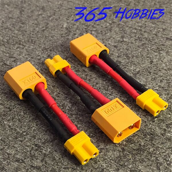 QTY-(3) Male XT-60 to Female XT-30 Connector Adapter Turnigy Drone XT30 XT60 FPV