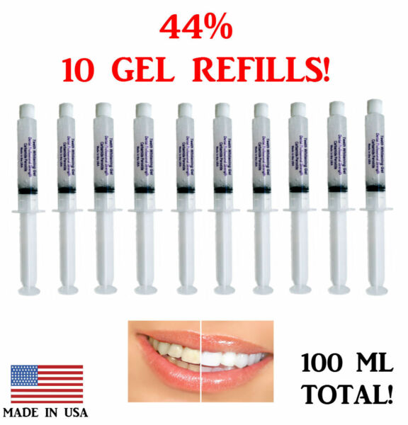 44% Teeth Whitening Gel Tooth Bleaching 10 Syringes 3D  Dental Professional USA! $14.97