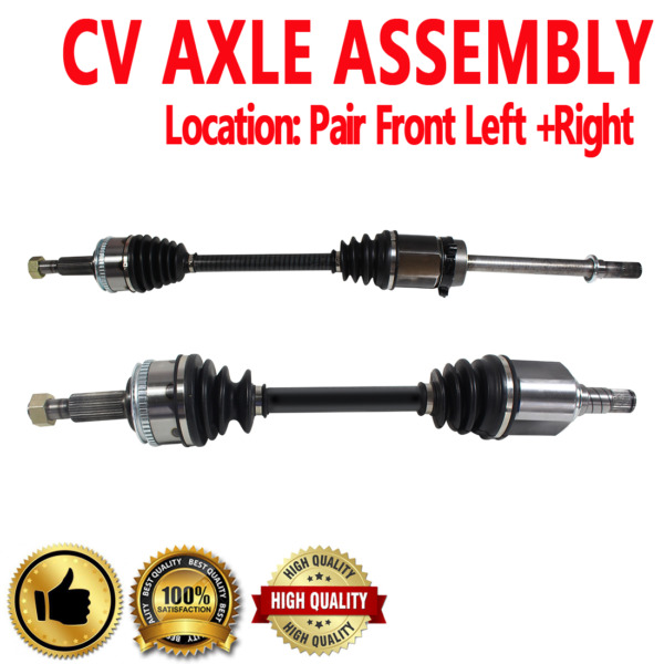 FRONT LEFT & RIGHT CV DRIVE AXLE SHAFT ASSEMBLY PAIR For MERCURY VILLAGER
