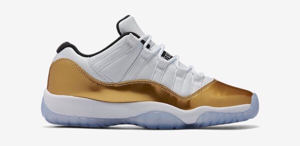Nike Air Jordan Ceremony 11 XI Low Retro Gold White Olympic 528895 103 Men