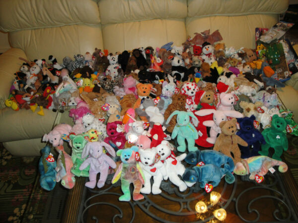 Massive Beanie Babies Bonanza HAVE THEM ALL.... INCLUDES RARE ONES 150+