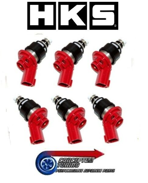 Set 6 x Genuine HKS Uprated 740cc Injectors- For Later 94- Z32 300ZX VG30DETT