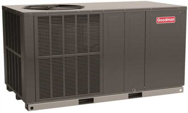Goodman 14 SEER 2 Ton Self Contained Dedicated Horizontal Packaged Heat Pump