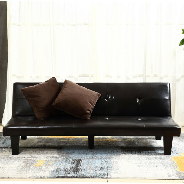 NEW Futon Sofa Bed Convertible Couch Loveseat Dorm Sleeper Lounge w (2) Pillow $189.99