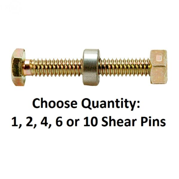 Snowblower Pin Shear w Spacer & Nut fits Dual Stage Snow Throwers 301172