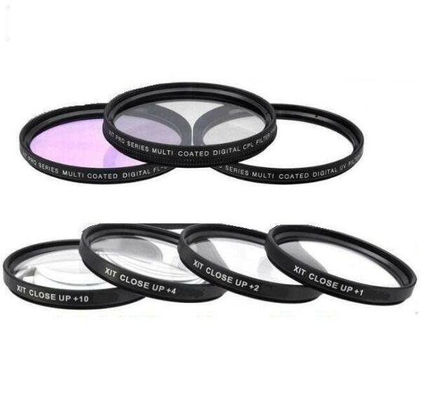4PC Macro Close-up & 3PC Filter Set For Sony Alpha A5000 A5100 A6000 A6300