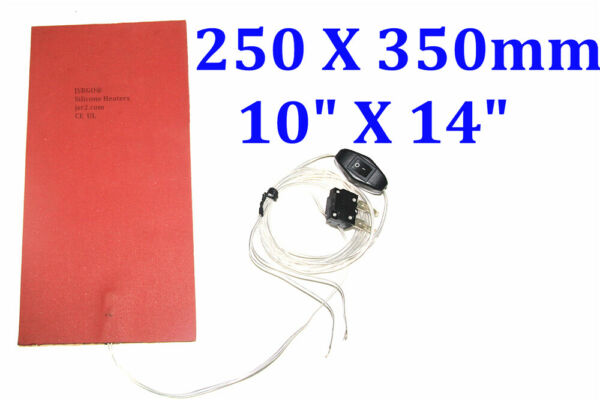 250mmX350mm 12V 60W with 10mm insulation with 3M RV Water Tank heater De-icer